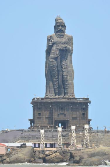 thiruvalluvar statue height