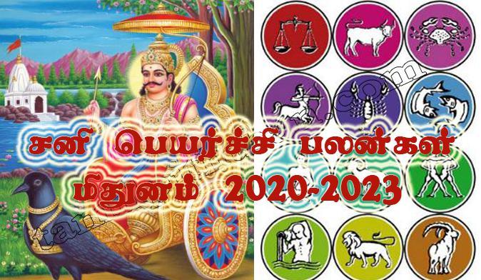 Sani Peyarchi Palangal Mithunam 2020-2023