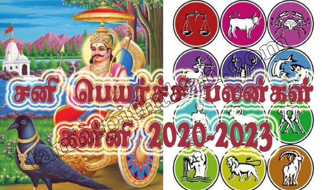 Sani Peyarchi Palangal Kanni 2020-2023