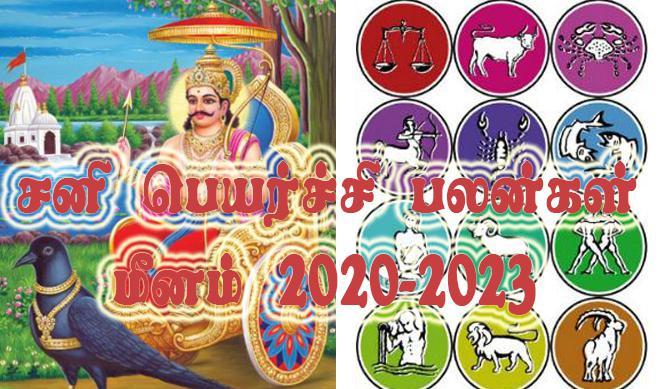 Sani Peyarchi Palangal Meenam 2020-2023