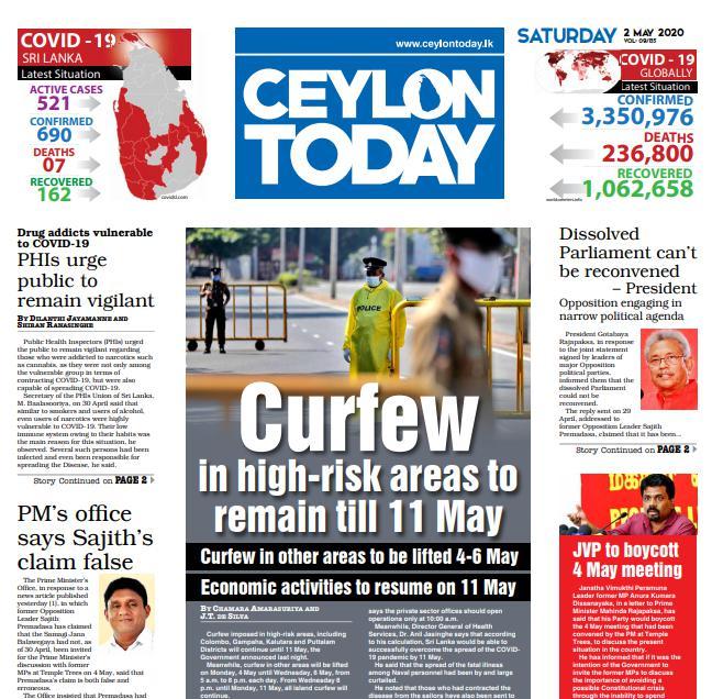 Ceylon Today News Paper