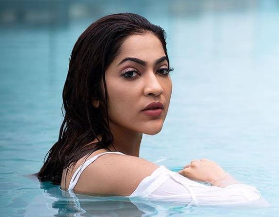 V J Ramya in Swimming dress